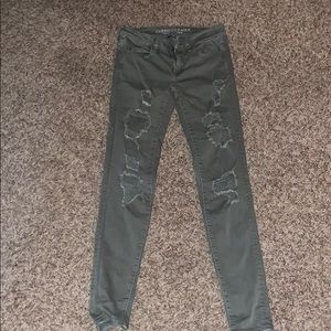 American eagle army green jeans